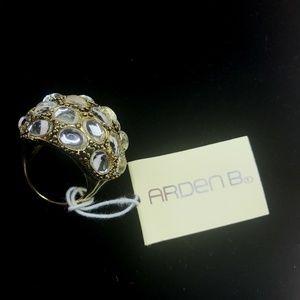 Arden B Bold Gold Rhinestone Ring